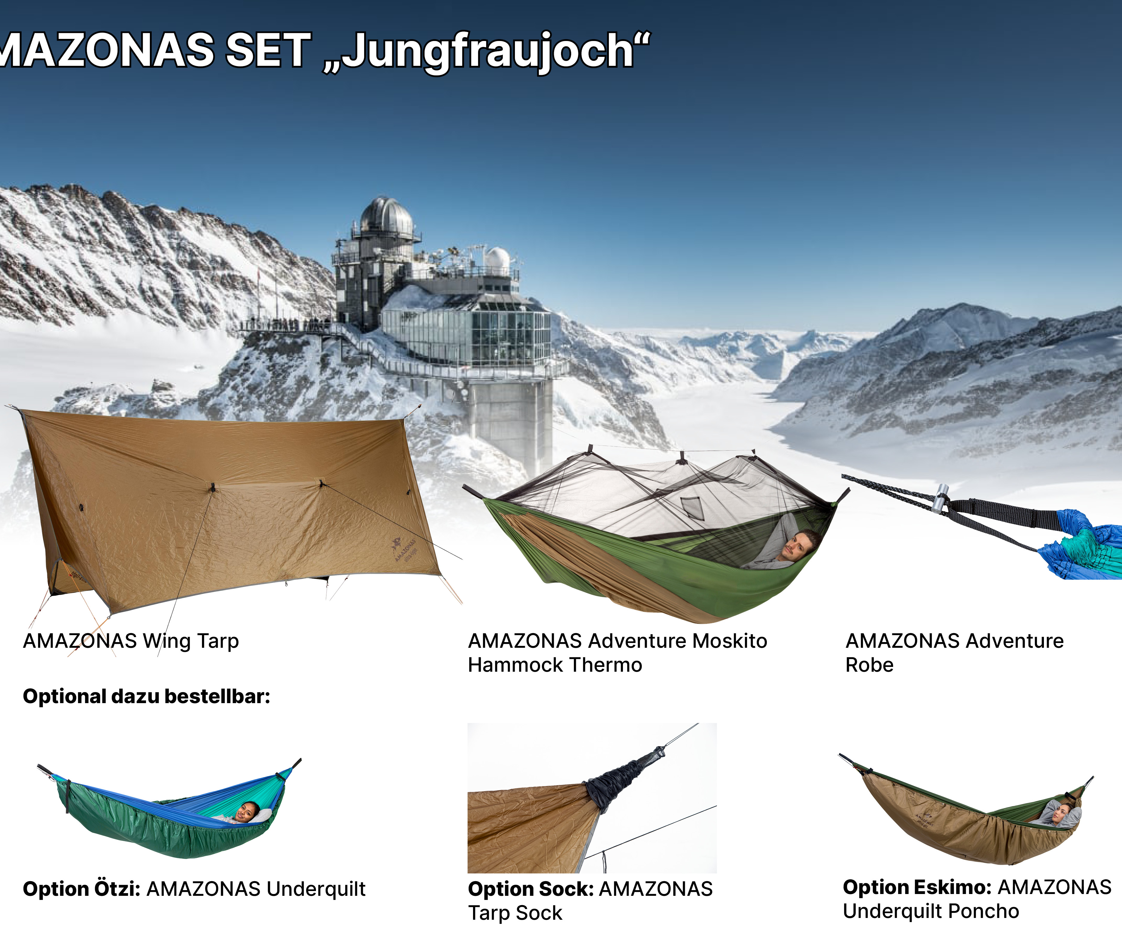 AMAZONAS Adventure Set Jungfraujoch AMAZONAS Poncho zum Sonderpreis AMAZONAS Sock zum Sonderpreis