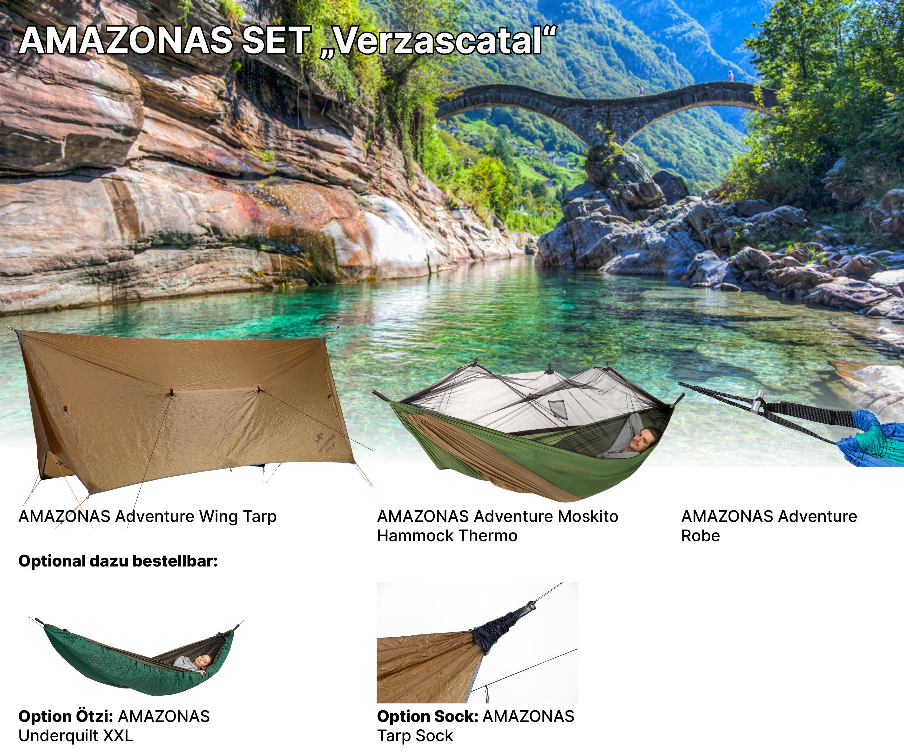 AMAZONAS Adventure Set Verzascatal AMAZONAS Poncho zum Sonderpreis AMAZONAS Sock zum Sonderpreis